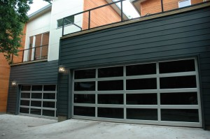 contemporary style glass garage door cave creek az